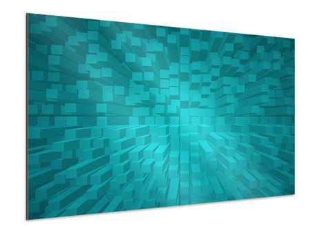 Aluminiumbild 3D-Kubusse