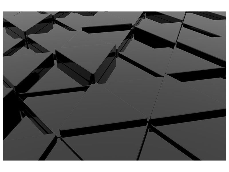 Aluminiumbild 3D-Dreiecksflächen