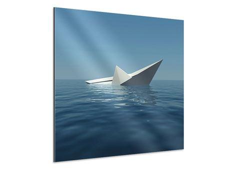 Aluminiumbild Papierschiffchen