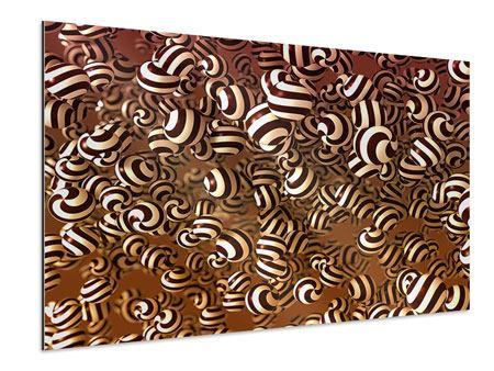 Aluminiumbild Schokoladen-Bonbons