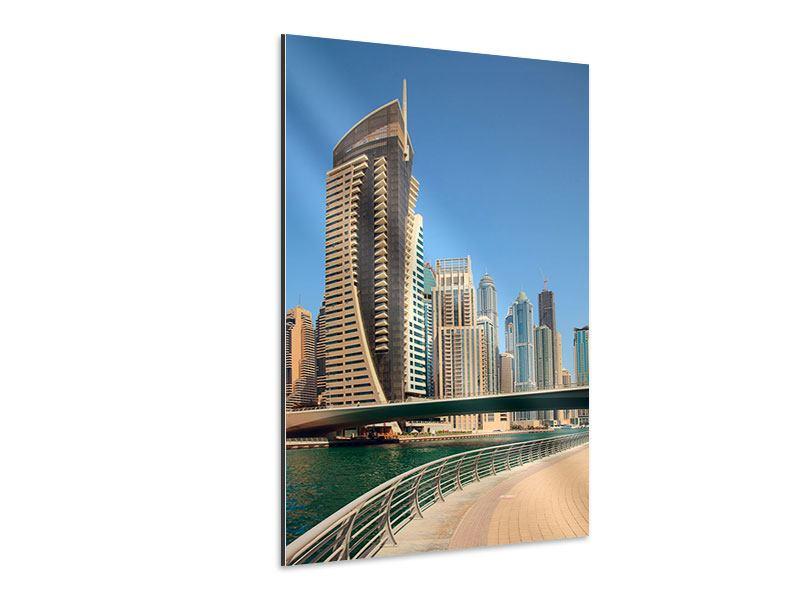 Aluminiumbild Spaziergang in Dubai