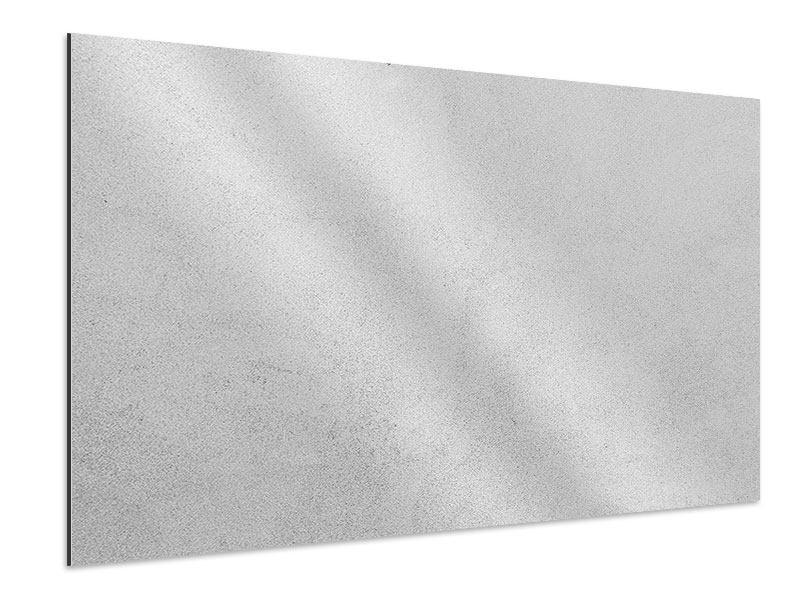 Aluminiumbild Beton in Hellgrau