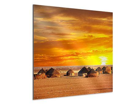 Aluminiumbild Afrikanisches Dorf
