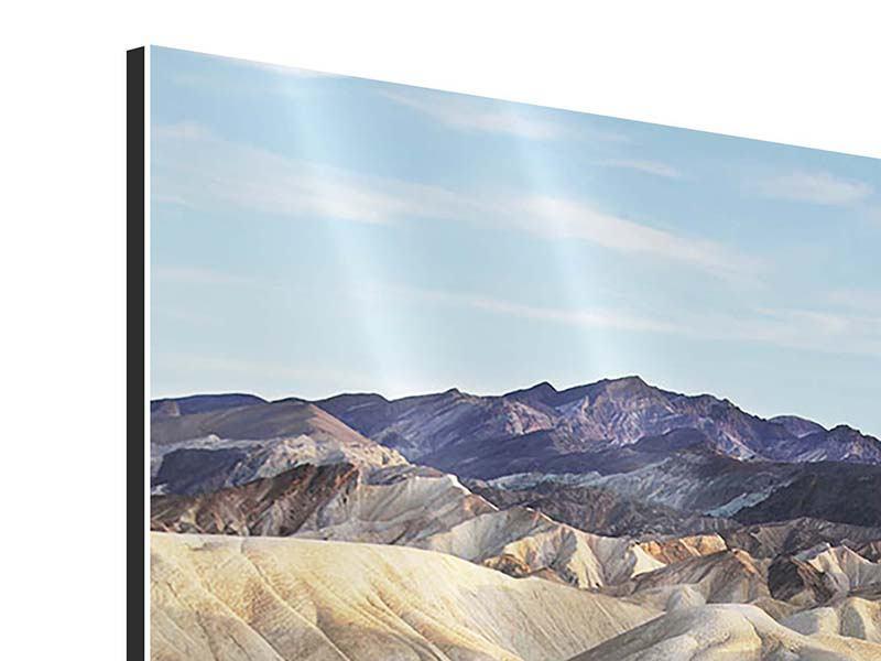 Aluminiumbild Auf dem Gebirgskamm