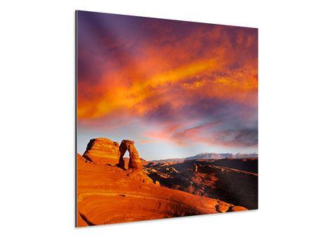 Aluminiumbild Sonnenuntergang im Canon
