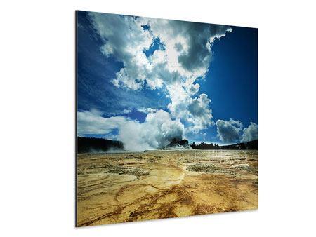 Aluminiumbild Vulkanlandschaft