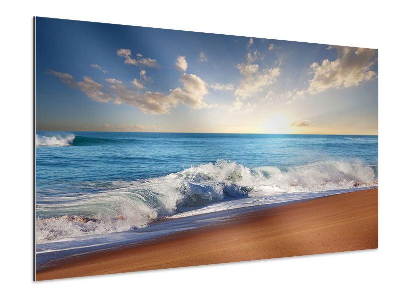Aluminiumbild Die Wellen des Meeres