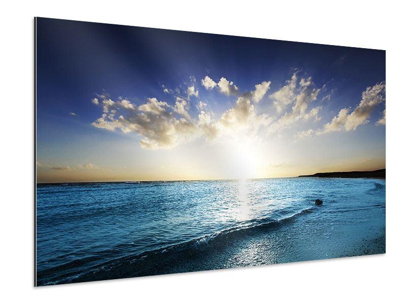 Aluminiumbild Das Meer im Sonnenaufgang