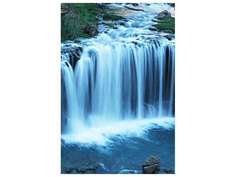 Aluminiumbild Am Wasserfall