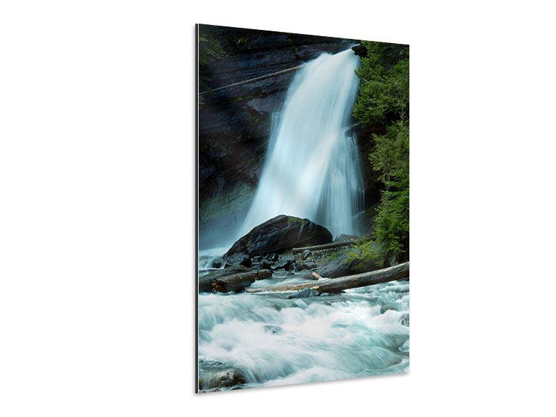Aluminiumbild Kraft des Wassers