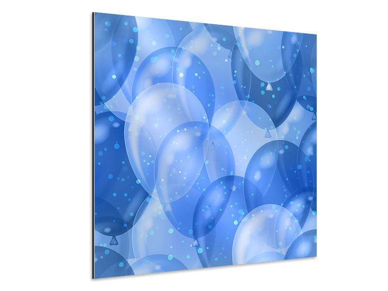 Aluminiumbild Blaue Ballons