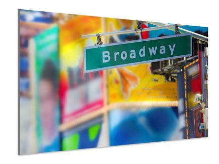 Aluminiumbild Broadway