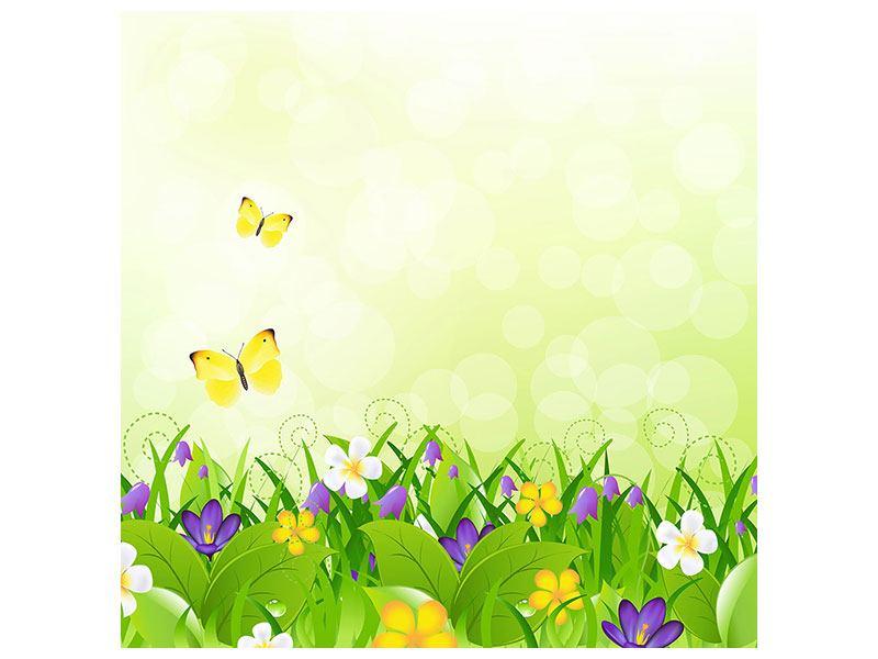 Aluminiumbild Lustige Schmetterlinge