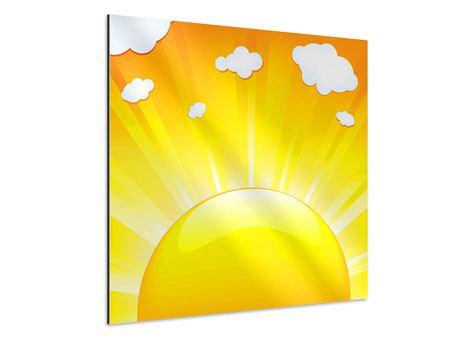 Aluminiumbild Die Sonne geht auf