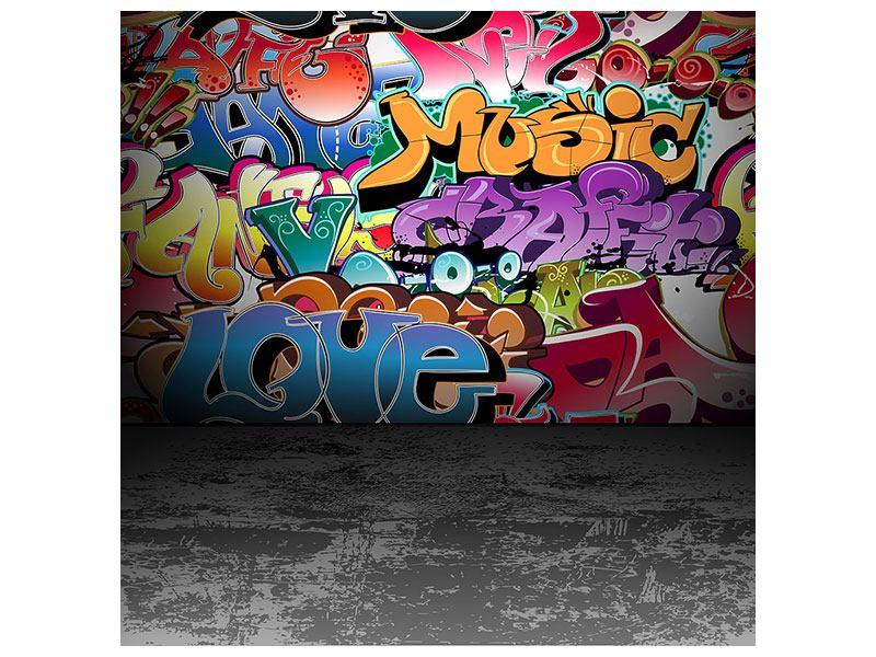 Aluminiumbild Graffiti-Writing