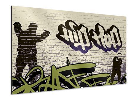 Aluminiumbild Graffiti Hip Hop