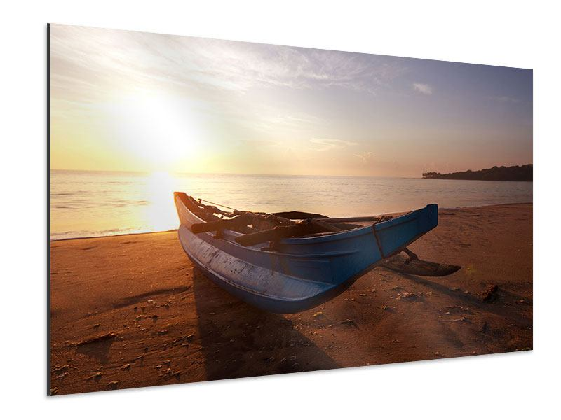Aluminiumbild Das gestrandete Boot