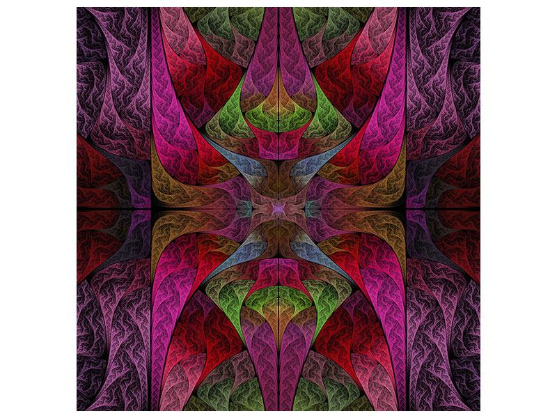 Aluminiumbild Fraktales Muster