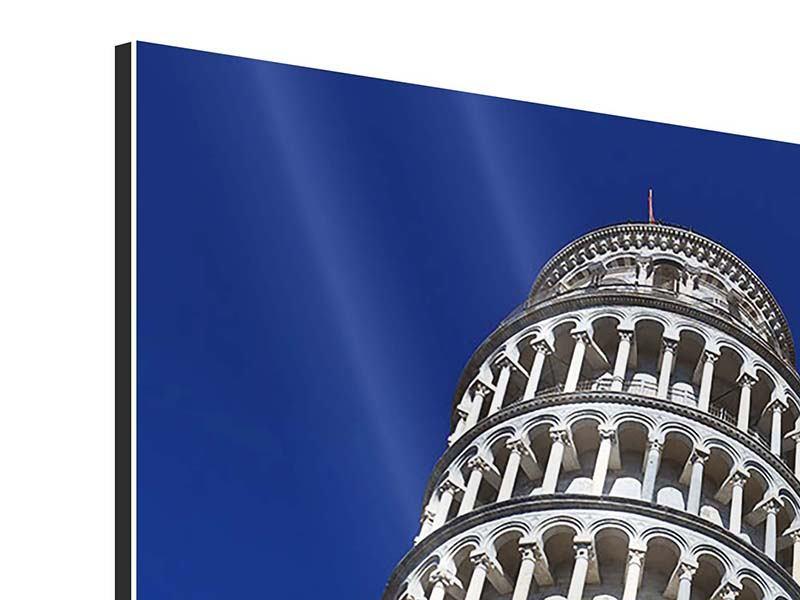 Aluminiumbild Der schiefe Turm von Pisa