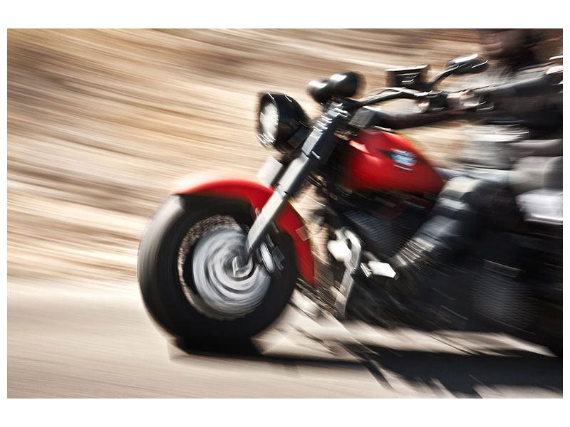 Aluminiumbild Biker