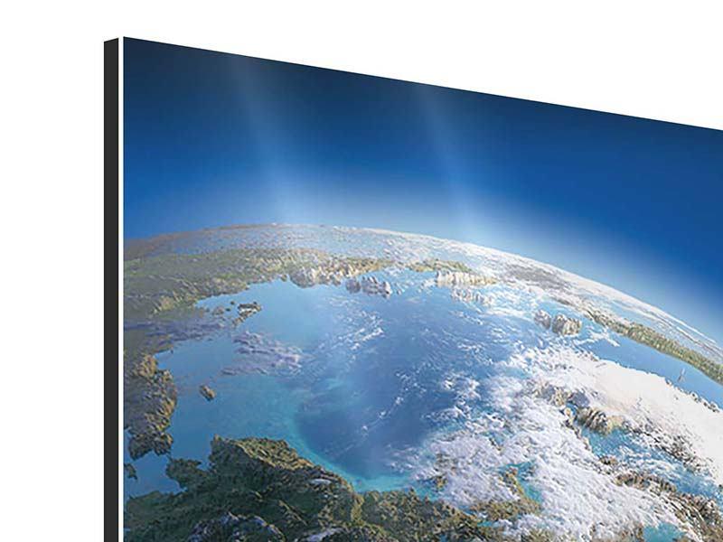 Aluminiumbild Die Erde