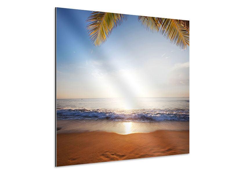 Aluminiumbild Figuren im Sand
