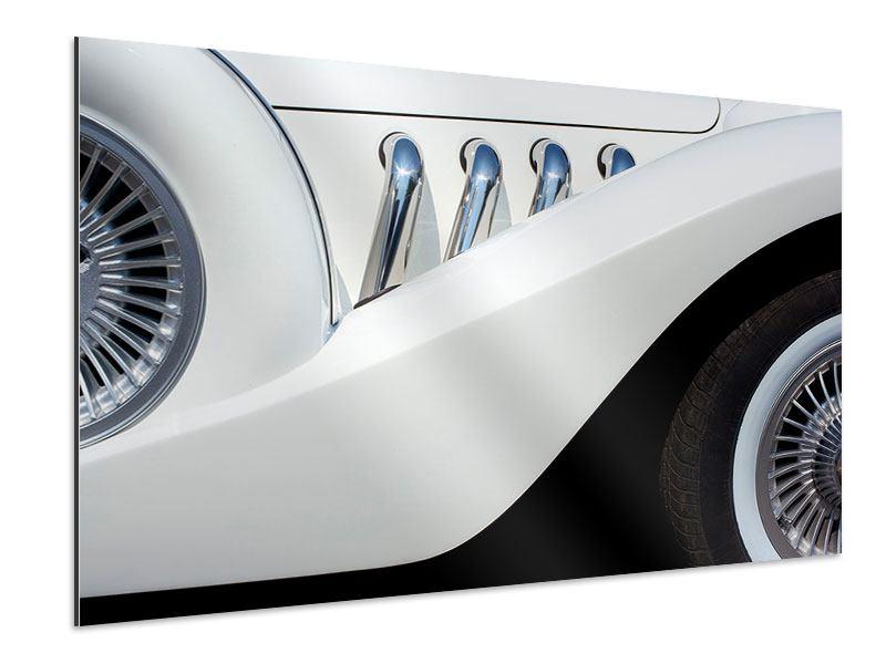 Aluminiumbild Close Up Oldtimer