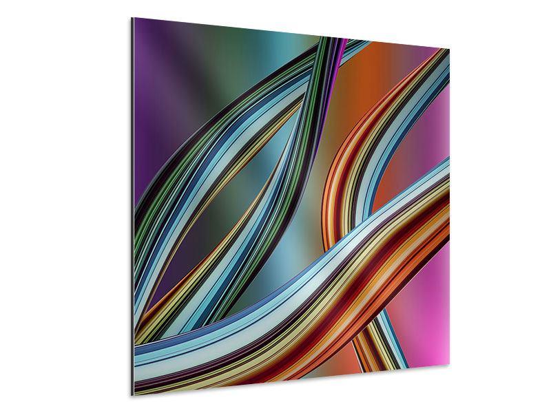 Aluminiumbild Wellengleich