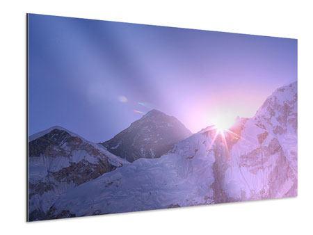 Aluminiumbild Sonnenaufgang beim Mount Everest