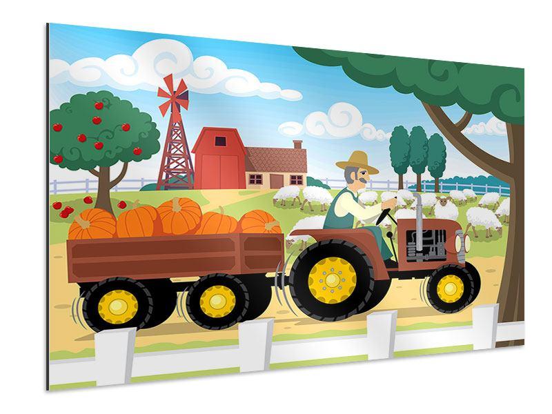 Aluminiumbild Bauernhof