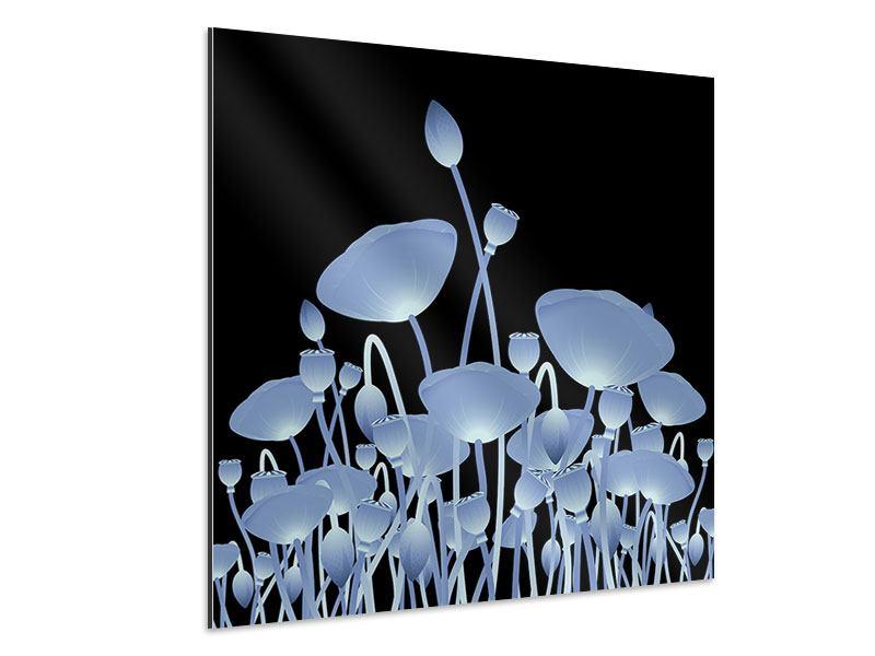 Aluminiumbild Futurische Blumen