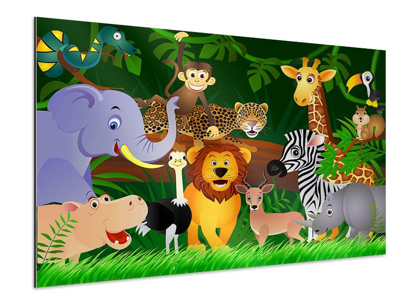 Aluminiumbild Dschungelkönig