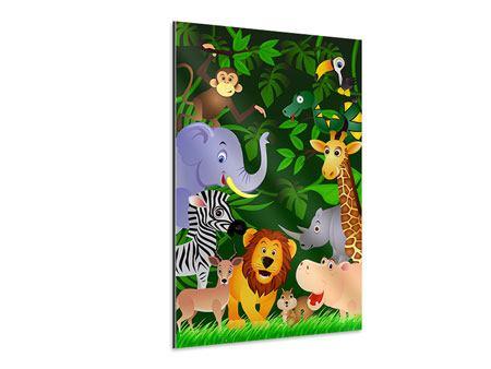Aluminiumbild Dschungelsafari