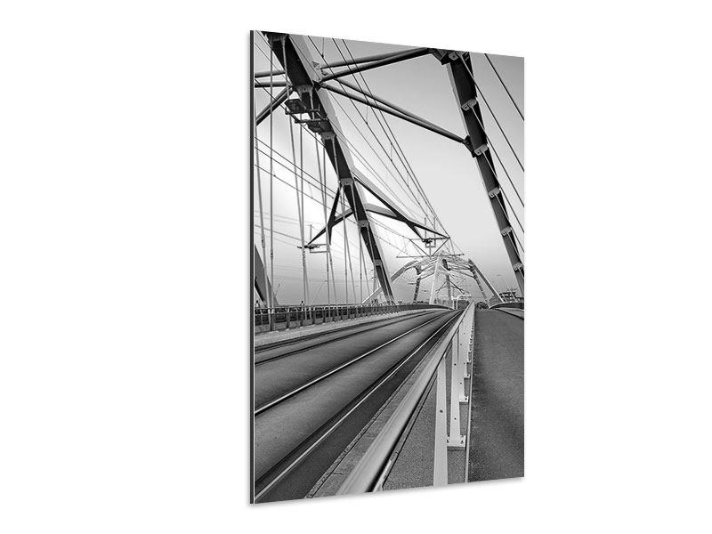 Aluminiumbild Auf der Brücke