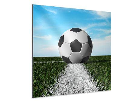 Aluminiumbild Der Fussball