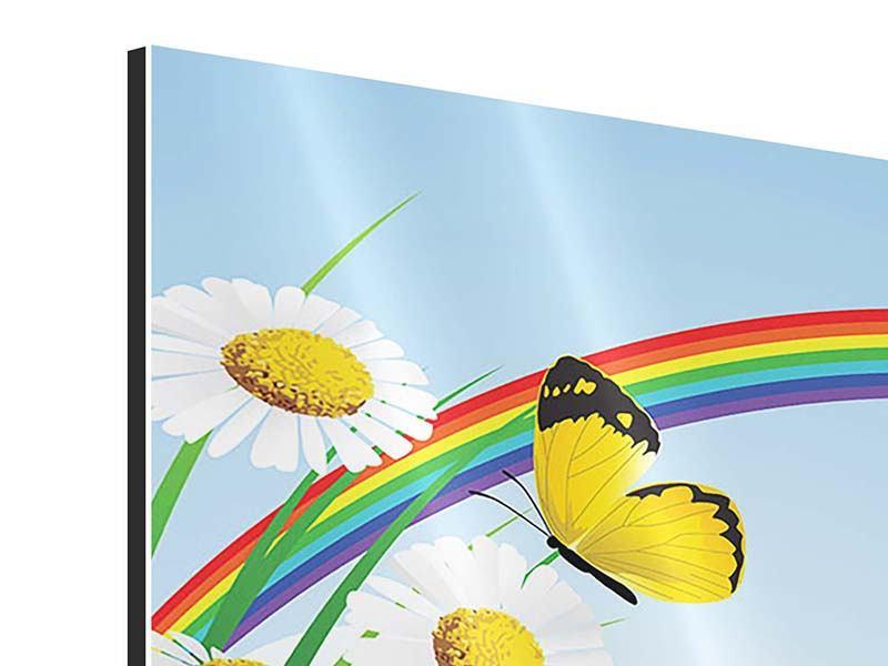 Aluminiumbild Der bunte Regenbogen
