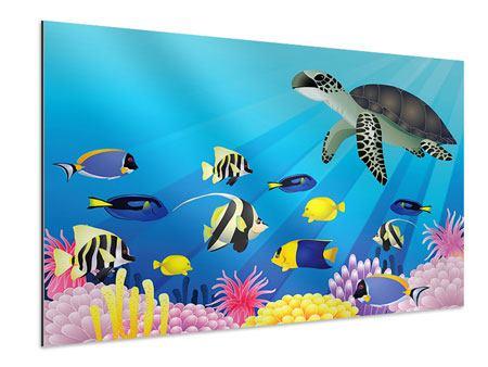 Aluminiumbild Kinder Unterwasserwelt