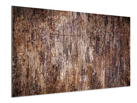 Aluminiumbild Retro-Holz