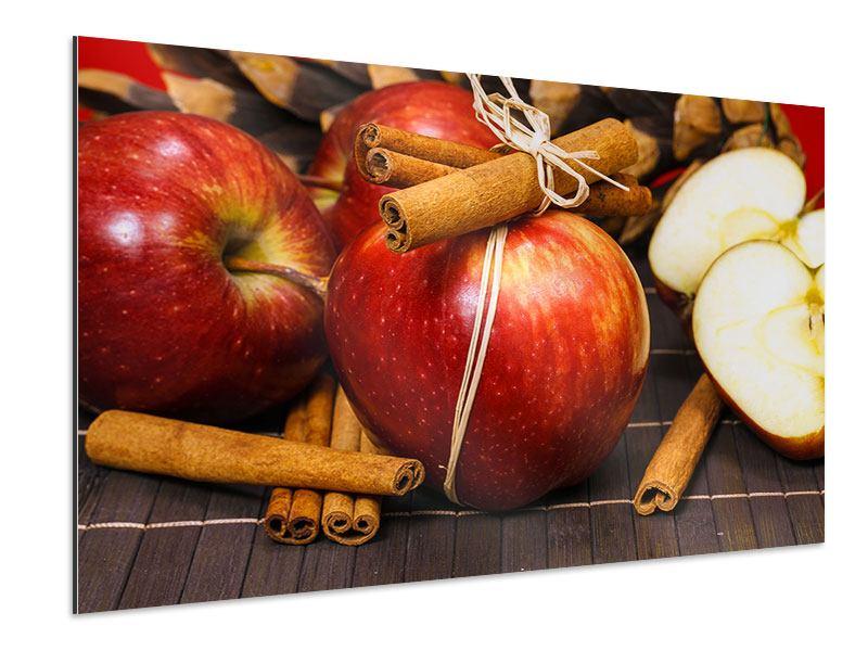 Aluminiumbild Äpfel