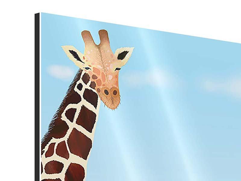 Aluminiumbild Giraffenfreund