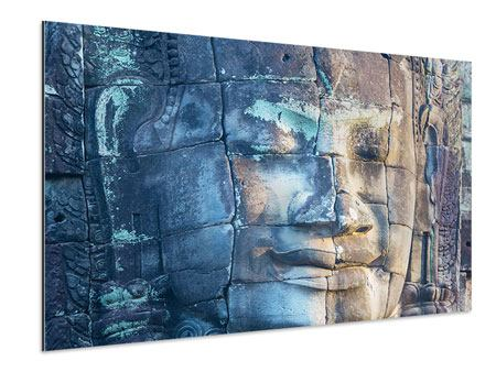 Aluminiumbild Buddha Statur