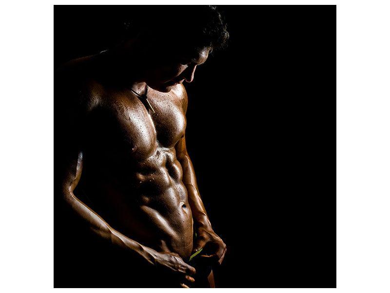 Aluminiumbild Heisses Männermodel