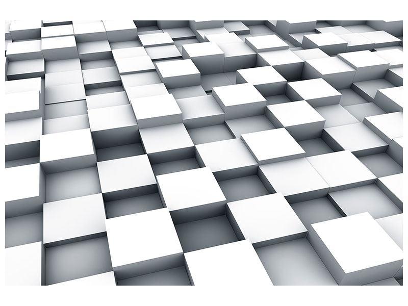 Aluminiumbild 3D-Kubus