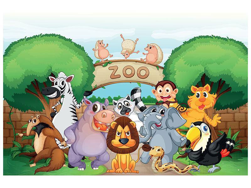 Aluminiumbild Der lustige Zoo