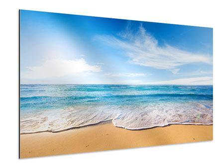Aluminiumbild Spuren im Sand
