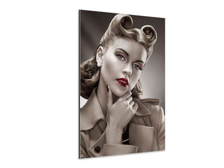 Aluminiumbild Pin Up im Retrostyle