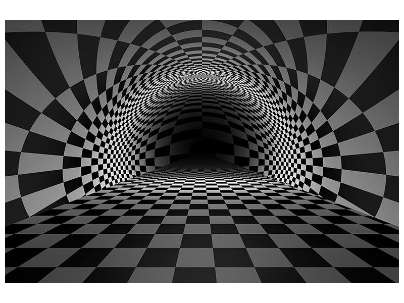 Aluminiumbild Abstraktes Schachbrett