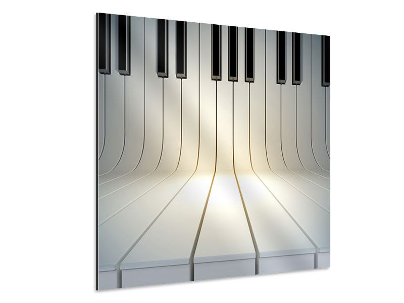 Aluminiumbild Klaviertasten