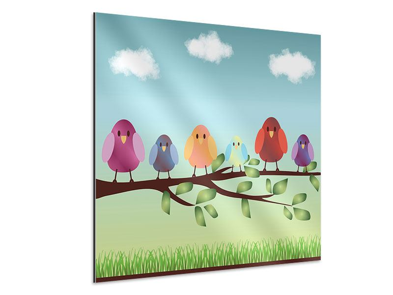 Aluminiumbild Alle Vögel sind schon da