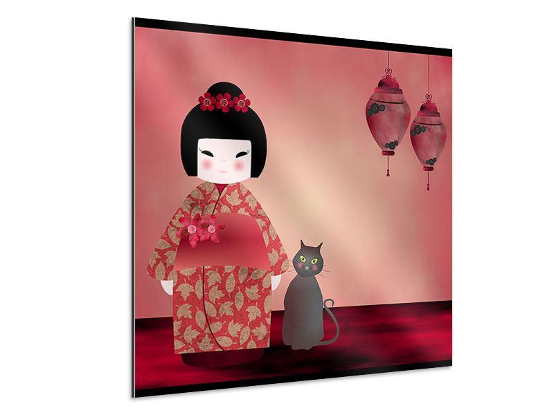 Aluminiumbild Chinese Girl